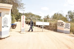The Water Project: Kalulini Boys' Secondary School -  School Gate And Sign