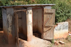 The Water Project: Kikuswi Secondary School -  Boys Latrines