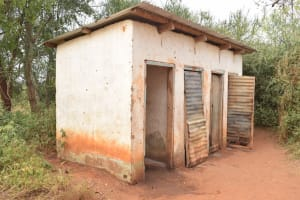 The Water Project: Kamulalani Primary School -  Boys Latrines