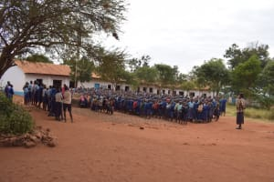 The Water Project: Kamulalani Primary School -  Students Gathered For Morning Meeting