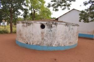 The Water Project: Kamulalani Primary School -  Broken Down Rainwater Tank