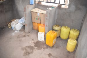 The Water Project: Matiliku Primary School -  Water Stored In Kitchen