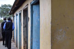 The Water Project: Kiundwani Secondary School -  Boys Latrines