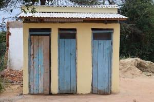 The Water Project: Kiundwani Secondary School -  Girls Latrines