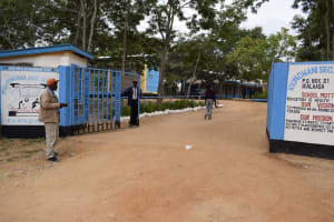 The Water Project: Kiundwani Secondary School -  School Entrance And Gate