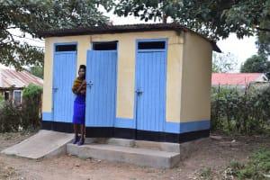 The Water Project: Kiundwani Secondary School -  Staff Latrines