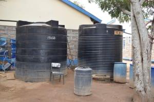 The Water Project: Kiundwani Secondary School -  Water Storage Tanks