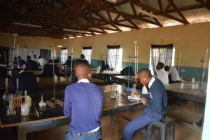 The Water Project: Katalwa Secondary School -  Students In The Science Lab