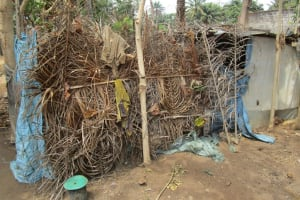 The Water Project: Mummy Ann's Pre-Primary School -  Bathing Shelter At Home In Community