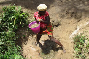 The Water Project: Mummy Ann's Pre-Primary School -  Hauling Water