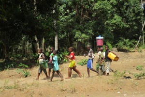 The Water Project: Mummy Ann's Pre-Primary School -  Kids Travel To Fetch Water