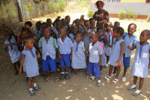 The Water Project: Mummy Ann's Pre-Primary School -  Students Outside