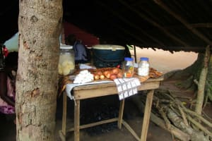 The Water Project: Gbontho Lane, Behind Gbontho Mosque -  Food Set Out For Cooking
