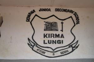The Water Project: Rowana Junior Secondary School -  Sign
