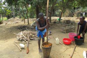 The Water Project: Transmitter, #14 Port Loko Road -  Mashing Palm Fruit