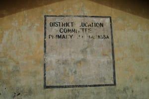 The Water Project: DEC Makassa Primary School -  Sign