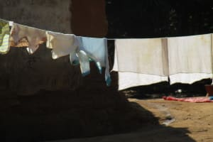 The Water Project: Lungi, Tonkoya Village -  Clothes Drying On The Line