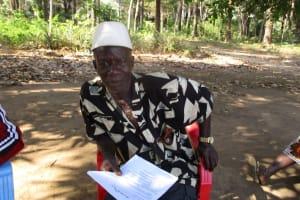 The Water Project: Lungi, Tonkoya Village -  Headman Pa Abu Dumbuya