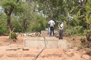 The Water Project: Katuluni Community C -  Pump Installation