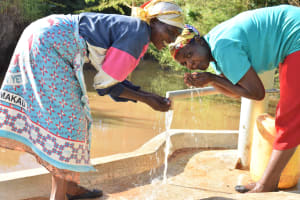The Water Project: Uthunga Community A -  Water Flowing