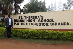 The Water Project: St. Theresa's Bumini High School -  Headteacher At School Gate