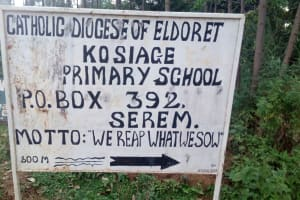 The Water Project: Kosiage Primary School -  School Sign