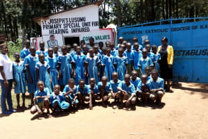 The Water Project: St. Joseph's Lusumu Primary School -  Students Posing At Gate
