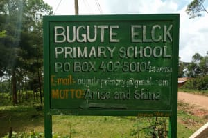 The Water Project: Bugute Lutheran Primary School -  School Sign