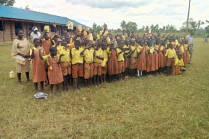 The Water Project: St. Margret Wadin'go Primary School -  Students With Water Containers