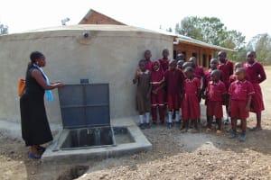 The Water Project: Namarambi Primary School -  Training On Tank Care