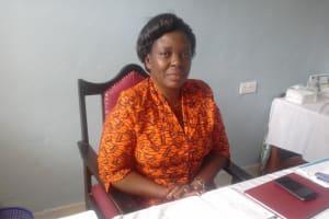 The Water Project: Dr. Gimose Secondary School -  Principal Sarah Esitika