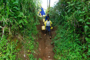 The Water Project: Kosiage Primary School -  Going To Fetch Water