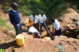 The Water Project: Ikumba Secondary School -  Fetching Water From The Community