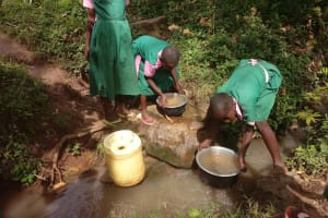 The Water Project: Ebukhayi Primary School -  Fetching Water