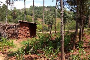 The Water Project: Kitulu Community, Kiduve Spring -  Latrine
