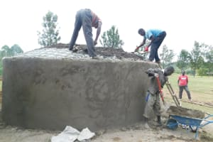 The Water Project: Mabanga Primary School -  Dome Construction