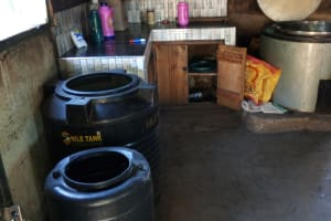 The Water Project: Banja Secondary School -  Water Storage In Kitchen