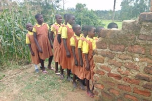 The Water Project: St. Margret Wadin'go Primary School -  Waiting Turn For Latrine