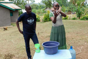 The Water Project: Bukhakunga Community, Khayati Spring -  Handwashing Training