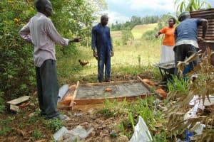 The Water Project: Mukoko Community, Mukoko Spring -  Sanitation Platform Construction