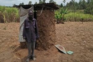 The Water Project: Tumaini Community, Ndombi Spring -  Latrine