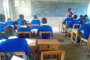 The Water Project: Dr. Gimose Secondary School -  Students In Class