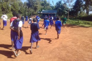 The Water Project: Kima Primary School -  Running To Use The Latrines