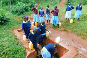 The Water Project: Hobunaka Primary School -  Fetching Water