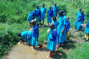 The Water Project: Shichinji Primary School -  Fetching Water