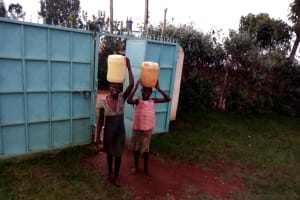 The Water Project: Womulalu Special School -  Arriving Back At School With Water
