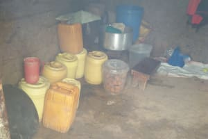 The Water Project: Bululwe Secondary School -  Water Stored In Kitchen