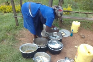 The Water Project: Dr. Gimose Secondary School -  School Cook Using Water