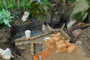 The Water Project: Bukhakunga Community, Khayati Spring -  Spring Protection