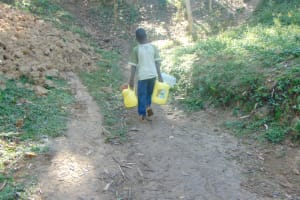 The Water Project: Shamiloli Community, Kwasasala Spring -  Carrying Water Home